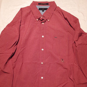 Tommy Hilfiger Shirts - TOMMY HILFIGER men's red checkered long sleeve